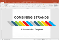 Animated Combining Strands Powerpoint Template inside Replace Powerpoint Template