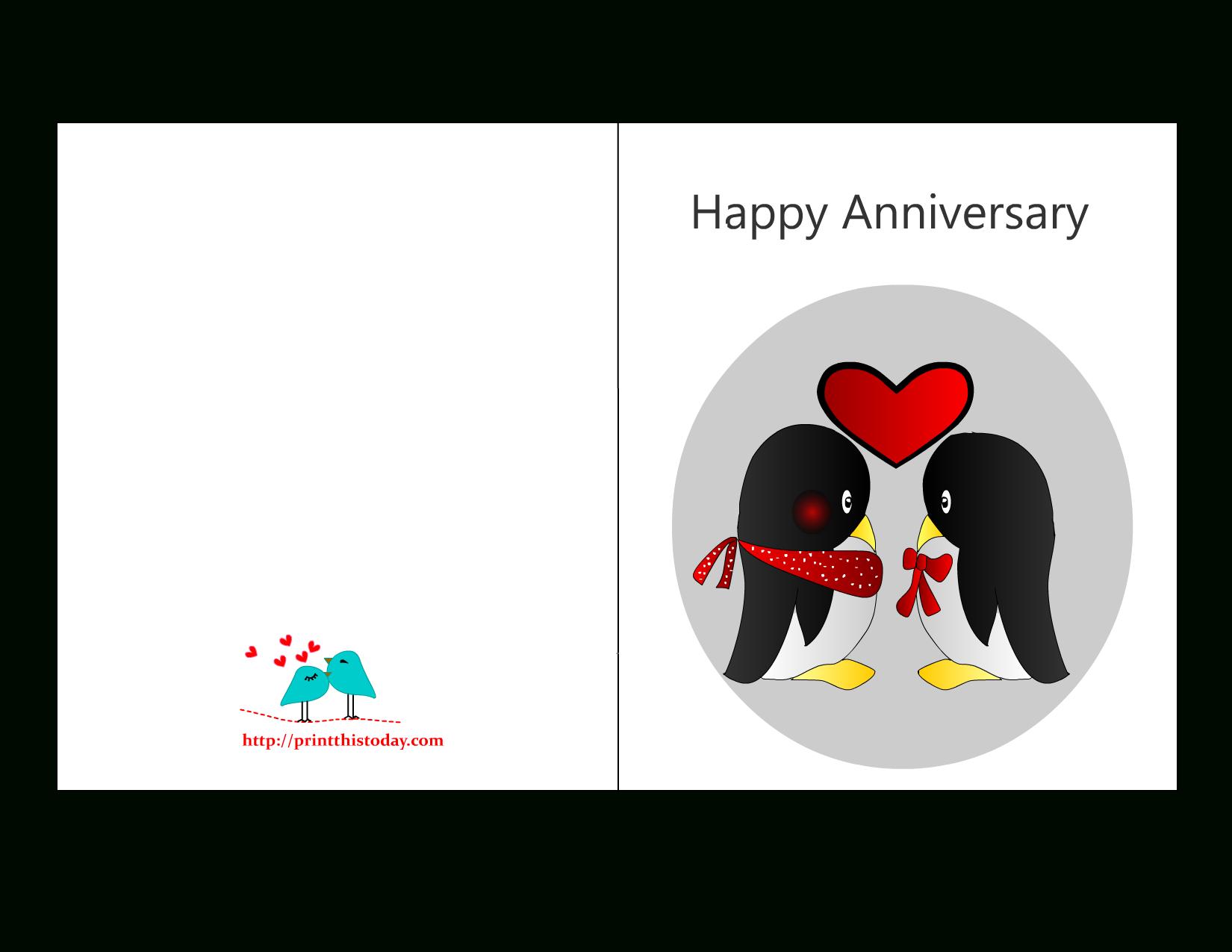 Anniversary Card Templates 12 Free - Anniversary Card Intended For Word Anniversary Card Template