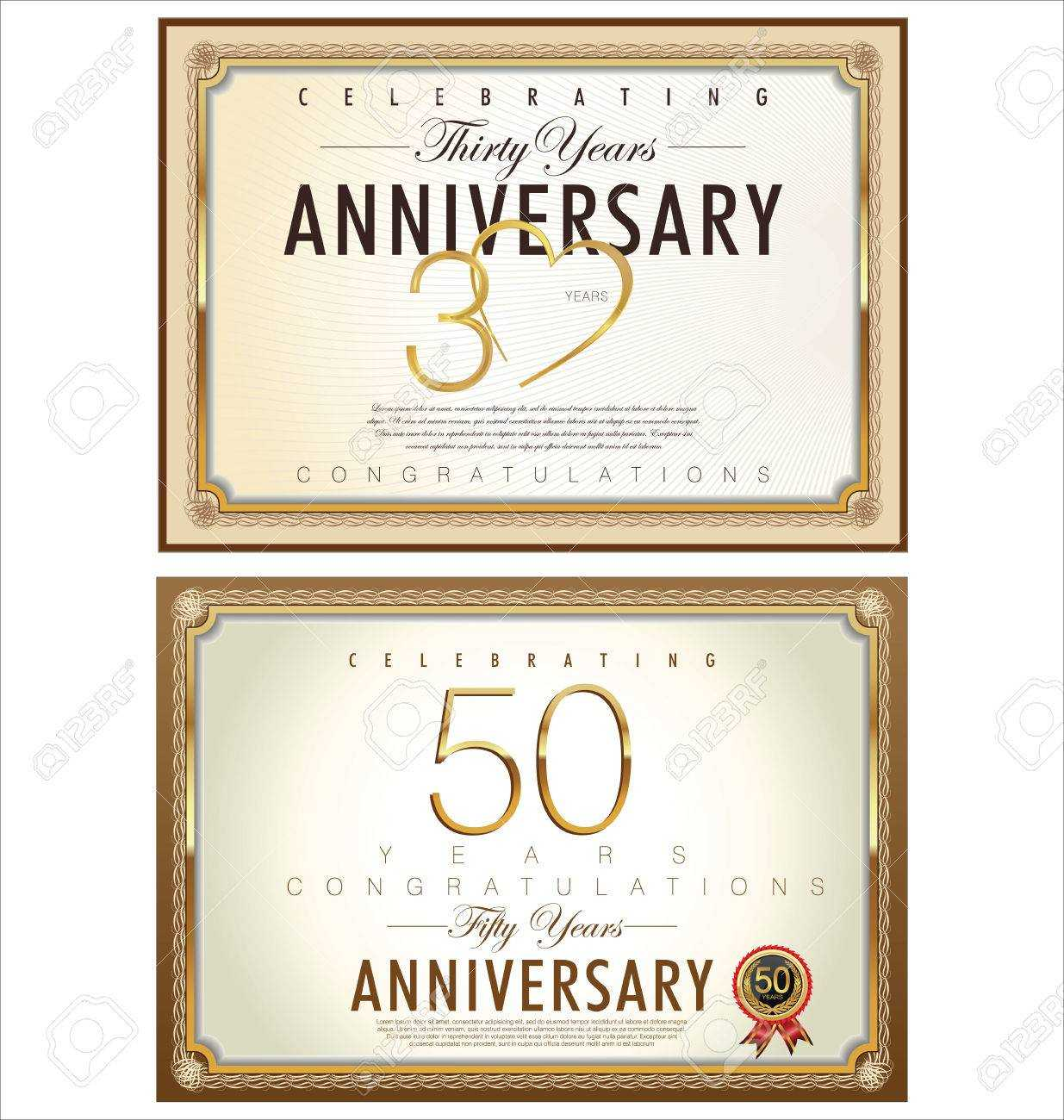 Anniversary Certificate Template Intended For Anniversary for Anniversary Certificate Template Free