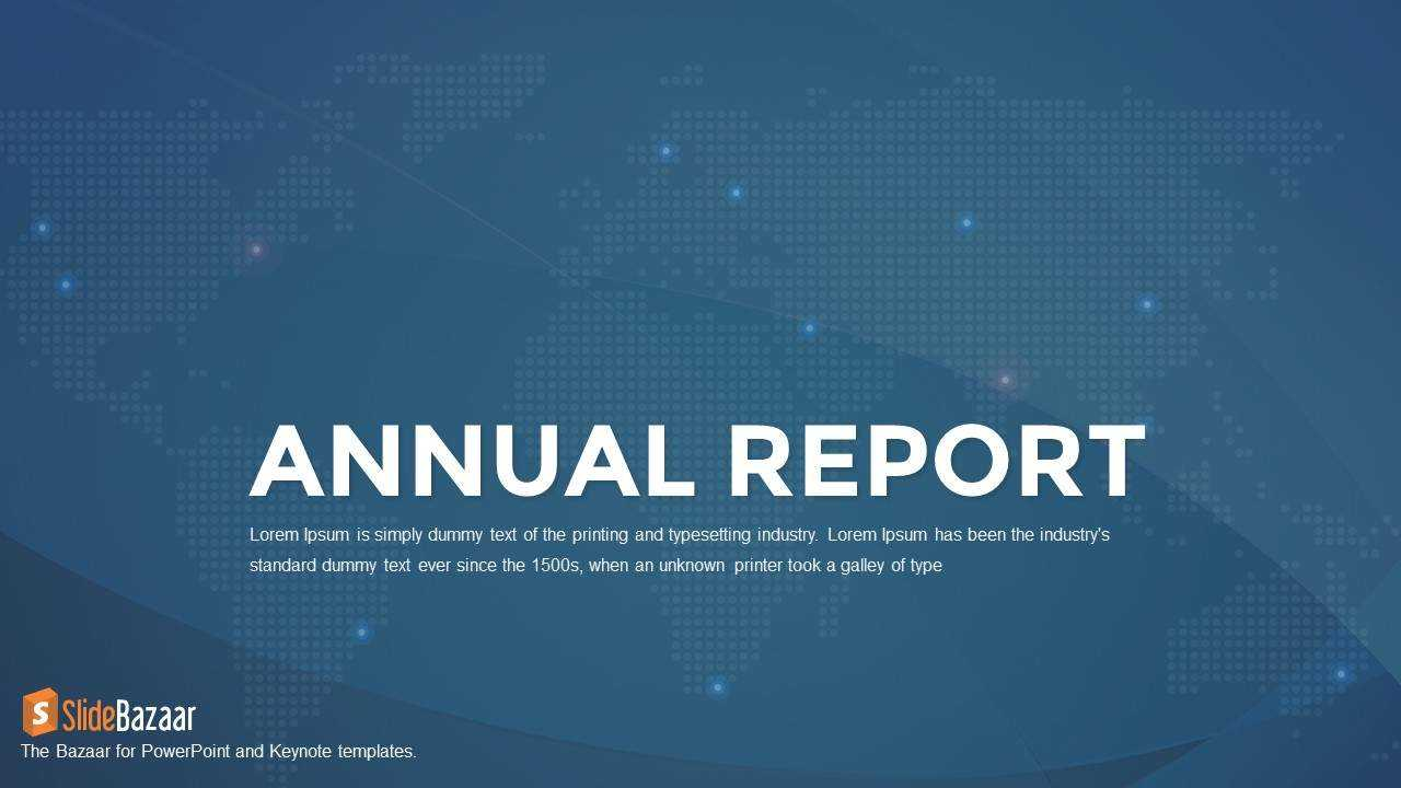 Annual Report Powerpoint Template And Keynote - Slidebazaar regarding Annual Report Ppt Template