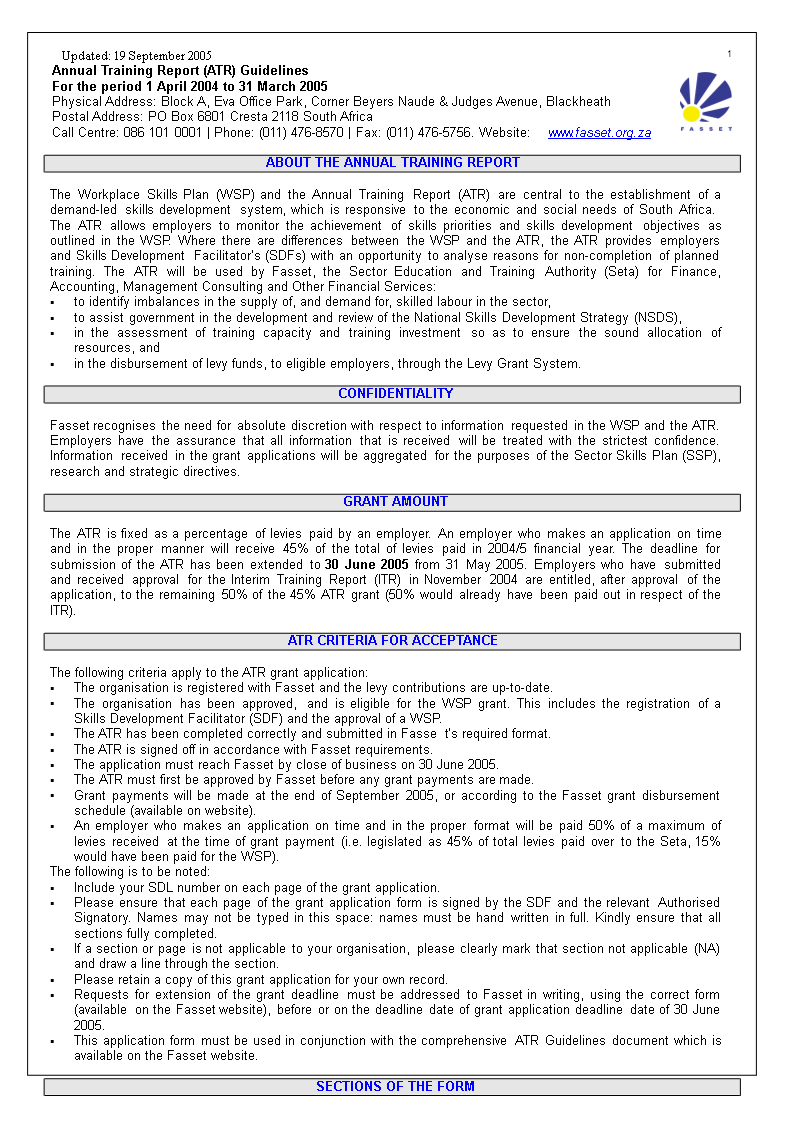 Annual Training Report Word | Templates At with regard to Training Report Template Format