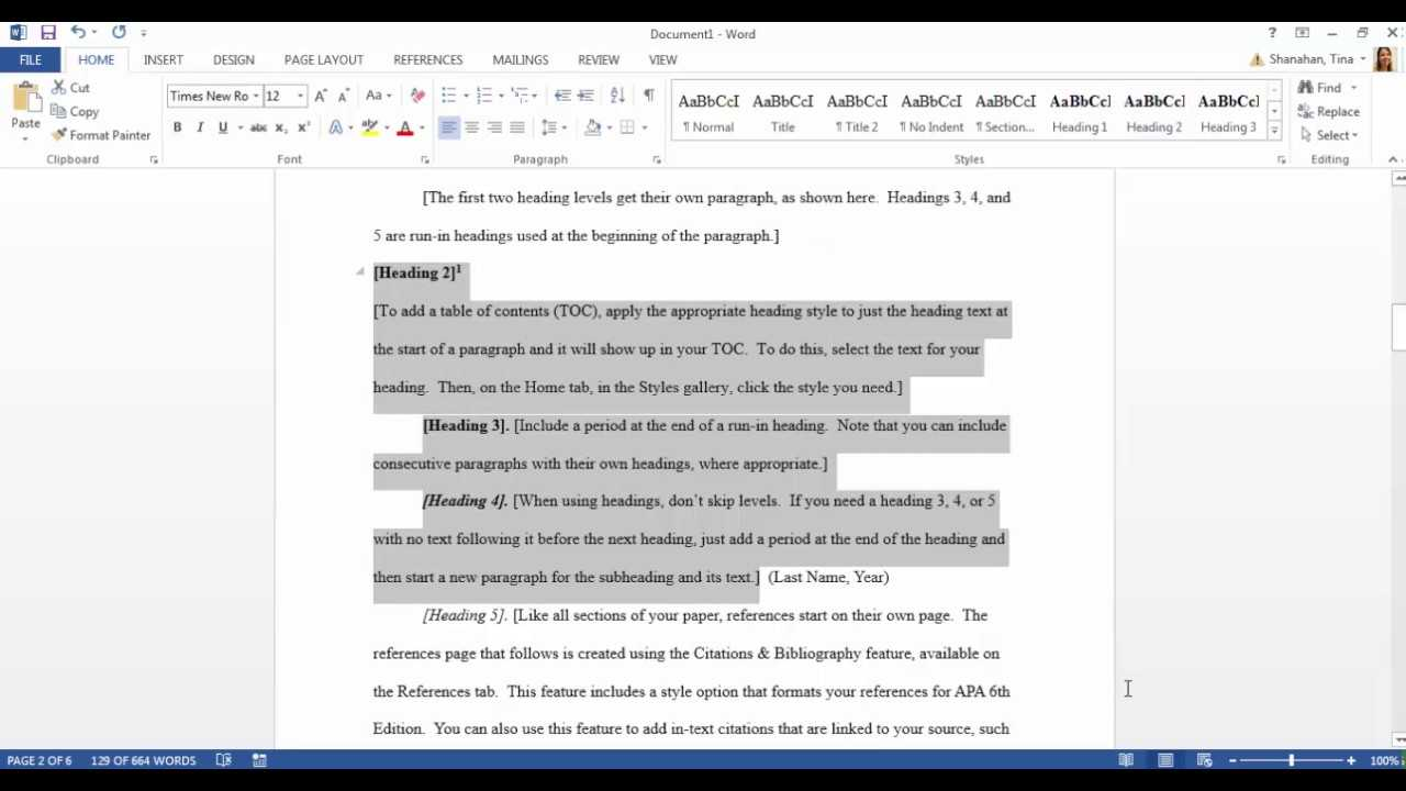 Apa Template In Microsoft Word 2016 Throughout Apa Word Template 6Th Edition