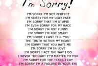Apology Card Templates | 10+ Free Printable Word & Pdf with Sorry Card Template