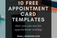 Appointment Card Template: 10 Free Resources For Small throughout Appointment Card Template Word