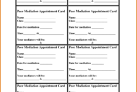 Appointment Reminder Card Template – Teplates For Every Day for Medical Appointment Card Template Free