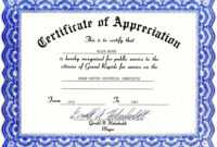 Appreciation Certificate Templates Free Download with Blank Certificate Templates Free Download