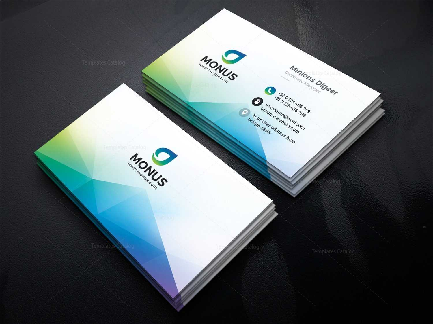 Aurora Modern Business Card Design Template 001593 Regarding Modern Business Card Design Templates