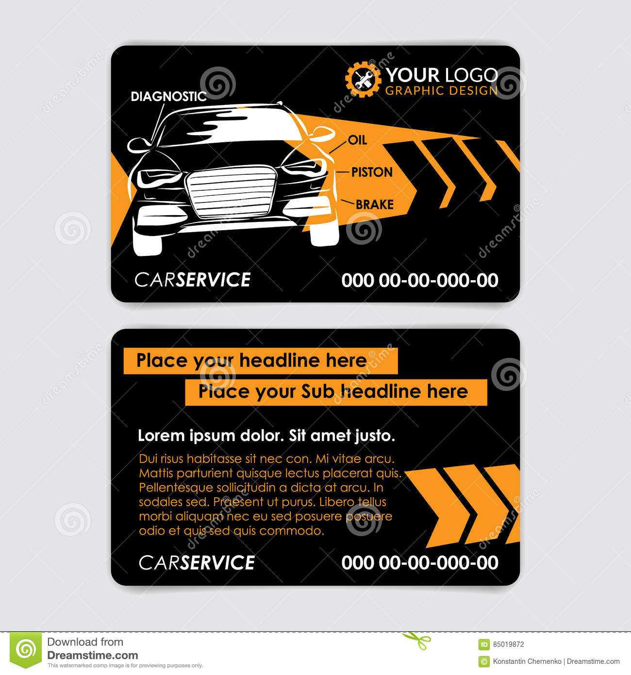 Auto Repair Business Card Template. Create Your Own Business for Automotive Business Card Templates