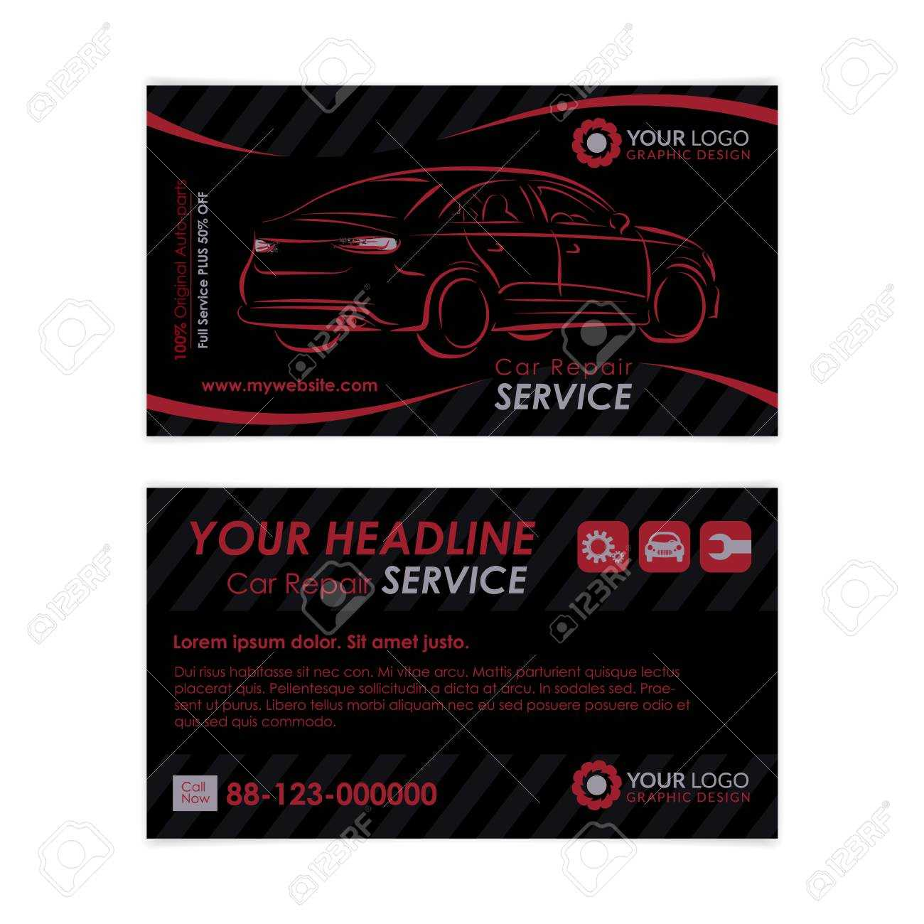 Auto Repair Business Card Template. Create Your Own Business.. in Automotive Business Card Templates