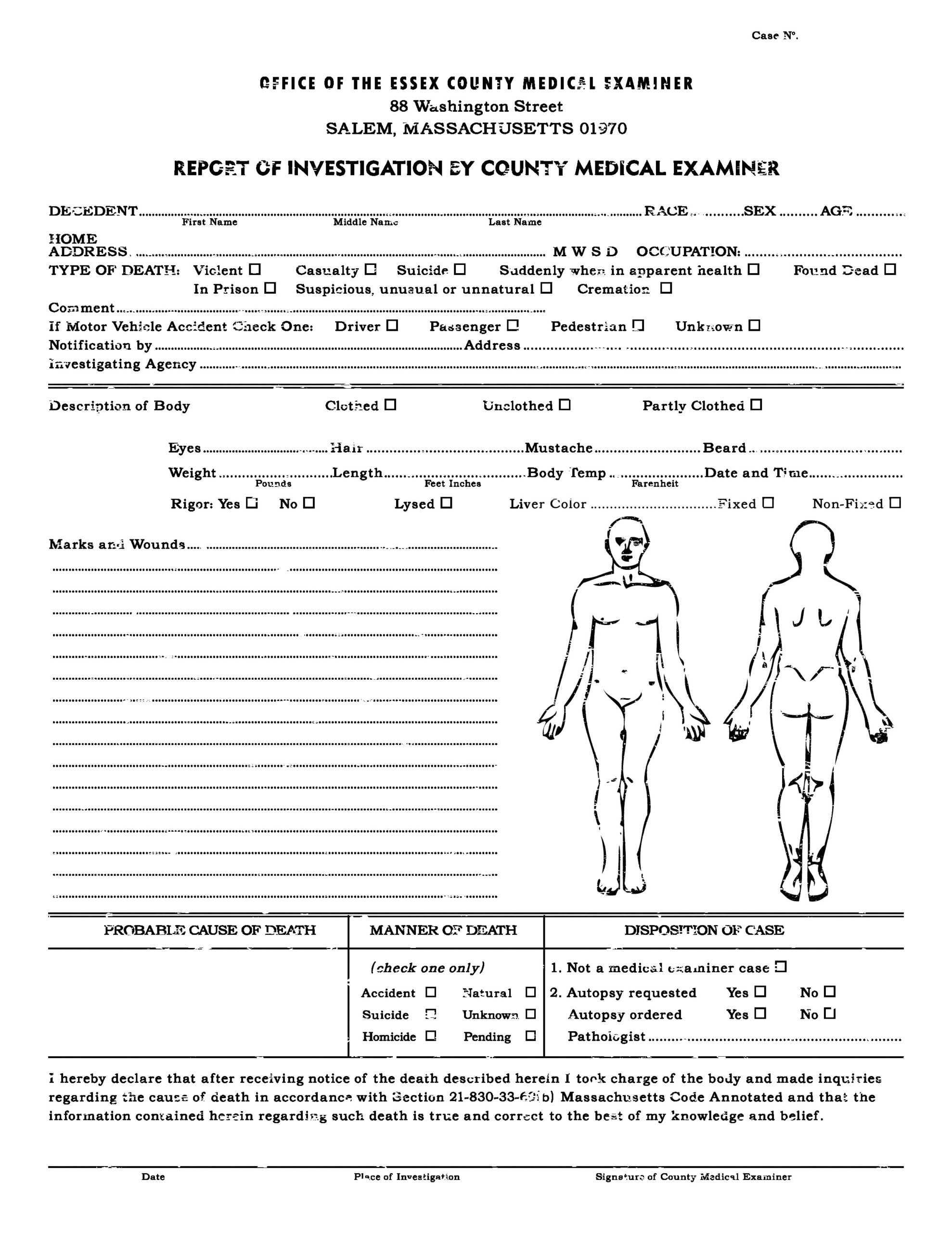 Autopsy Report Template - Atlantaauctionco Inside Autopsy Report Template