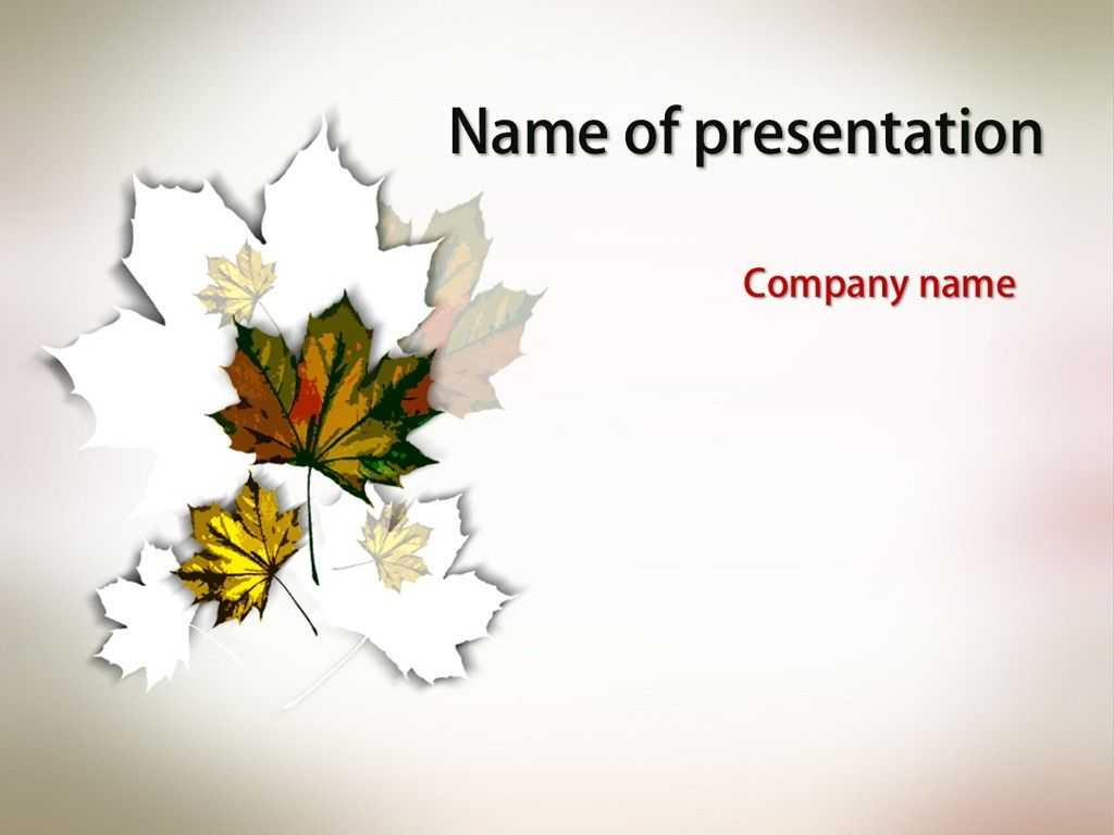 Autumn Leaves Powerpoint Template | Powerpoint Templates Within Free Fall Powerpoint Templates