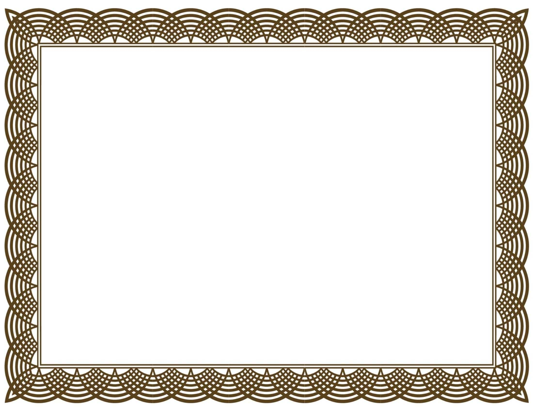Award Certificate Border Pdf Template In Certificate Border Regarding Free Printable Certificate Border Templates