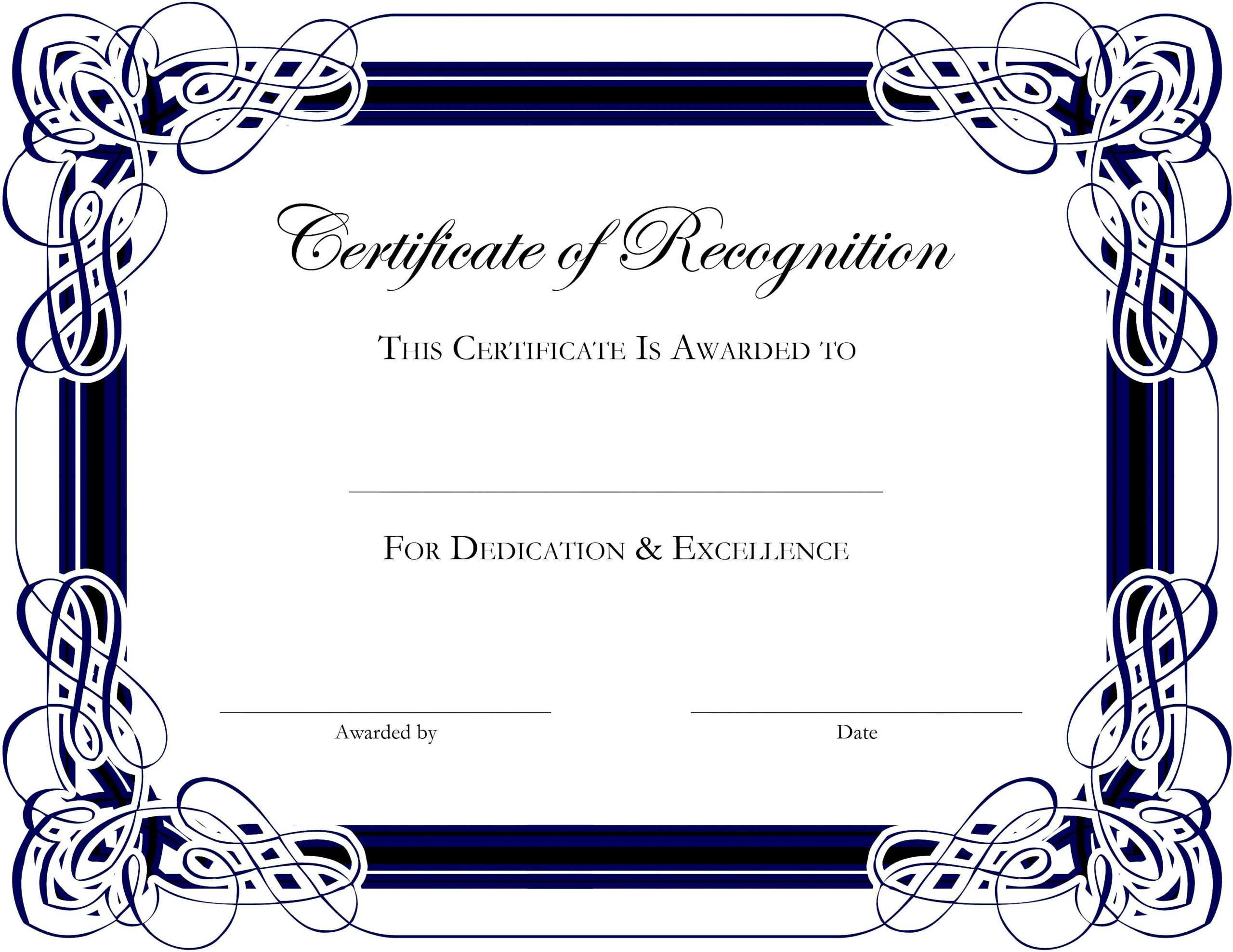 Award Templates For Microsoft Publisher   Besttemplate123 intended for Free Printable Graduation Certificate Templates