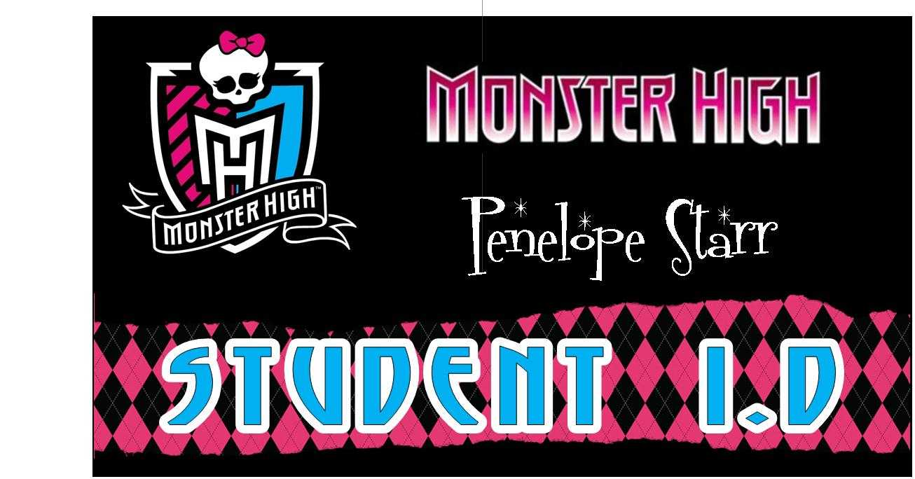 Awesome Monster High Party Games ~ Diy And Printables! regarding Monster High Birthday Card Template