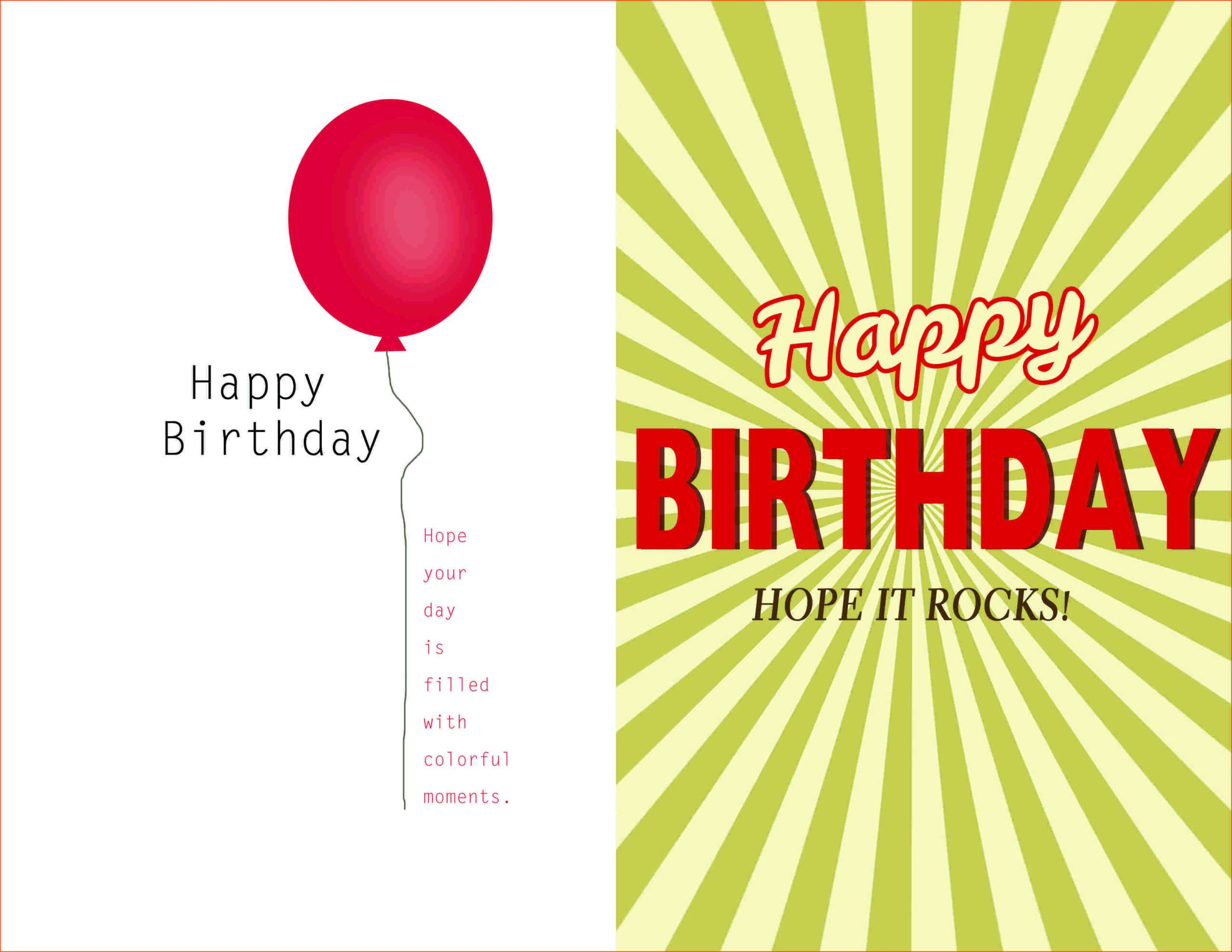 Awesome Quarter Fold Birthday Card Template Free Download inside Quarter Fold Greeting Card Template