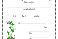 Baby Dedication Certificates Printable – Fill Online within Baby Christening Certificate Template