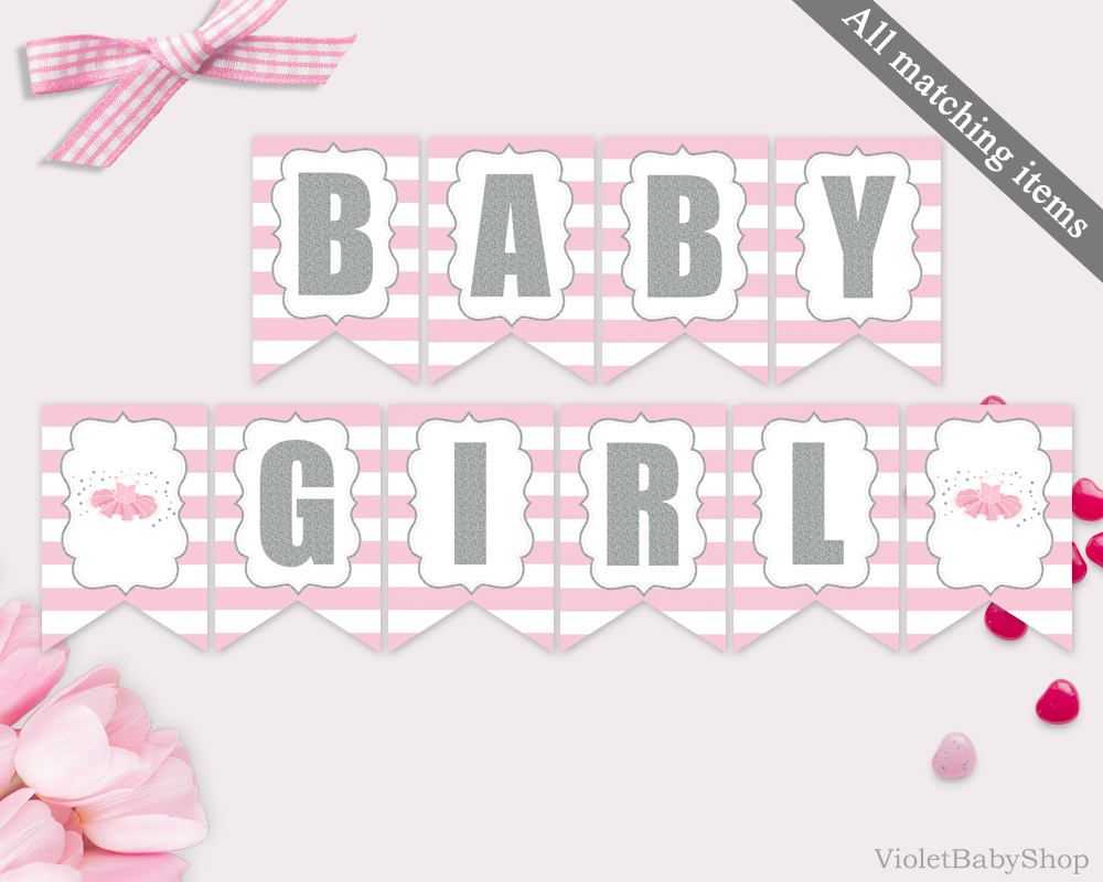 Baby Shower Banner Template Printable Tutu Excited Banner Pertaining To Baby Shower Banner Template