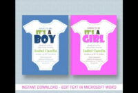 Baby Shower Invitation Template For Ms Word pertaining to Free Baby Shower Invitation Templates Microsoft Word