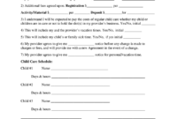 Babysitting Contract – Fill Online, Printable, Fillable intended for Nanny Contract Template Word