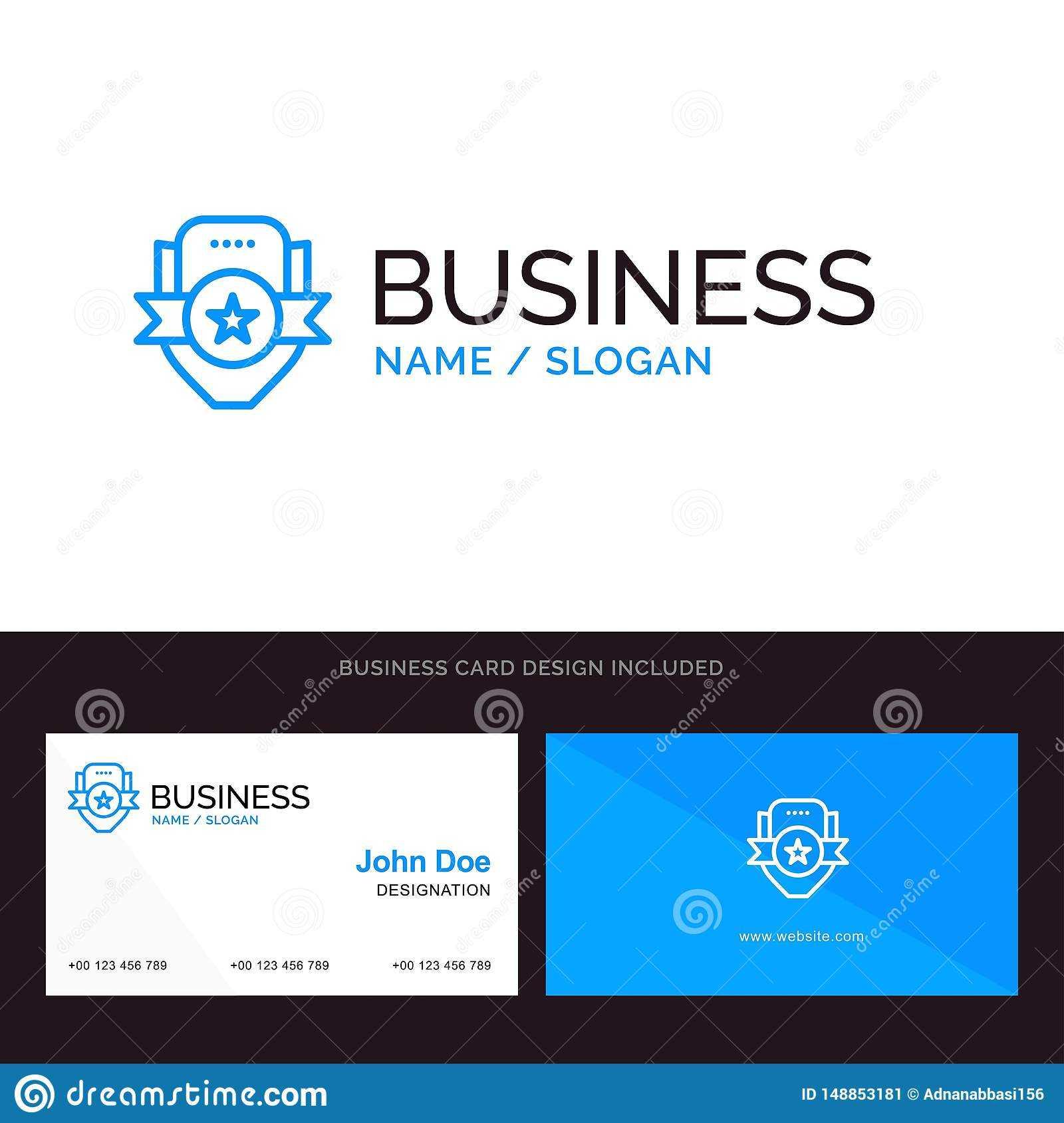 Badge, Club, Emblem, Shield, Sport Blue Business Logo And Regarding Shield Id Card Template
