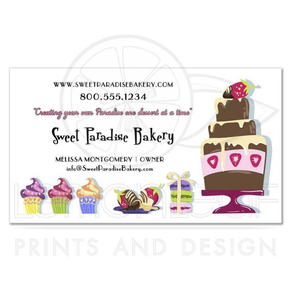 Bakery Business Cards Free Templates Vector Visiting Sample Within Cake Business Cards Templates Free