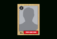 Baseball Cards Template Clipart Images Gallery For Free for Custom Baseball Cards Template