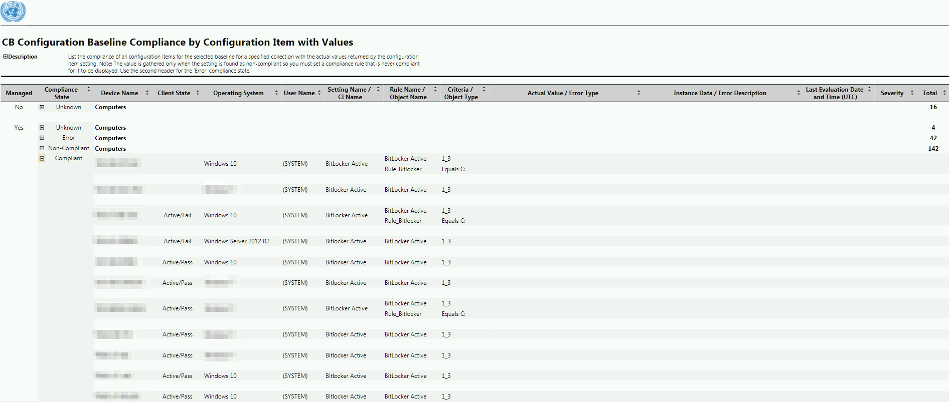 Baseline Reporting With Actual Values Output In Sccm regarding Baseline Report Template