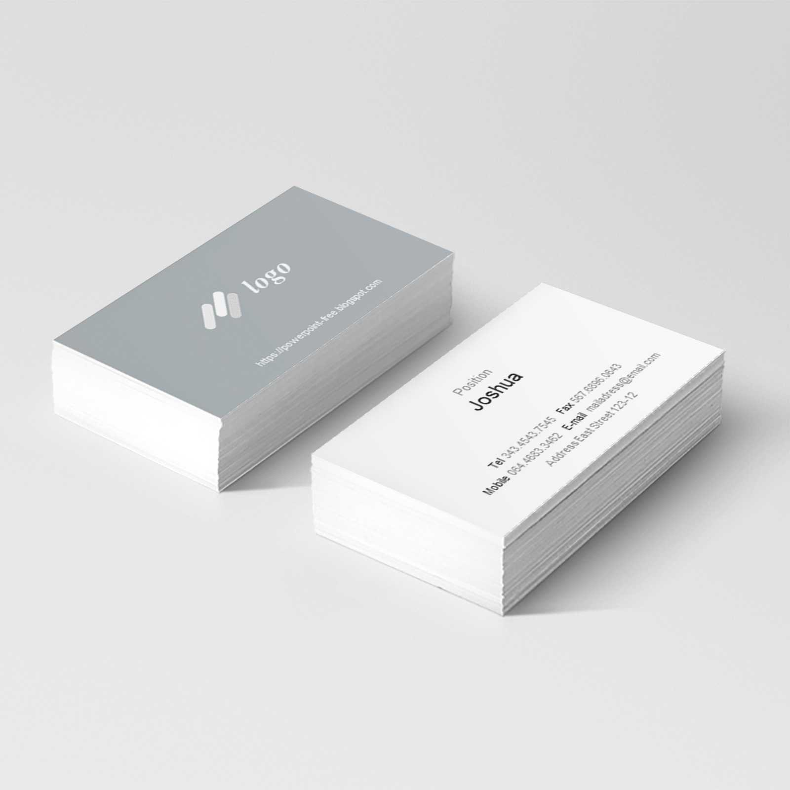 Basic Business Card Powerpoint Templates - Powerpoint Free In Business Card Template Powerpoint Free
