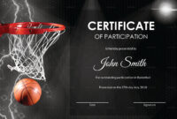Basketball Participation Certificate Template inside Basketball Certificate Template