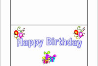 Beautiful 10 Free Microsoft Word Greeting Card Templates intended for Birthday Card Template Microsoft Word