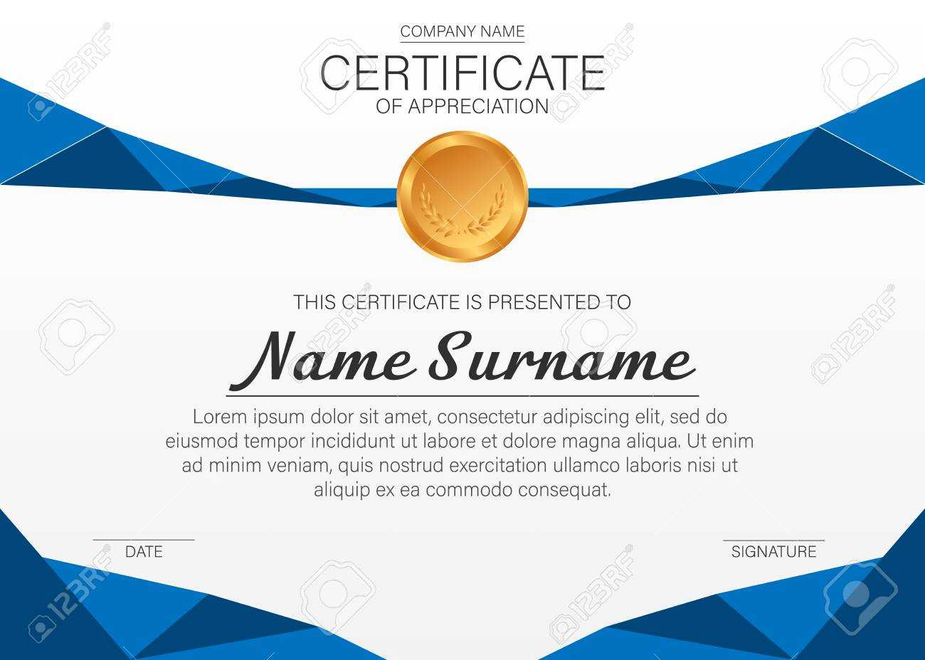 Beautiful Certificate Template. Vector Design For Award, Diploma intended for Beautiful Certificate Templates