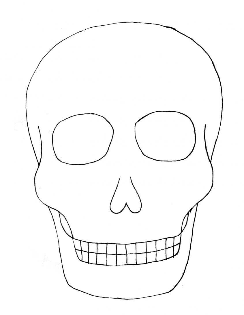 Best Coloring: Day Of The Sugar Skull Blank Template Skulls Inside Blank Sugar Skull Template