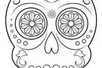 Best Coloring: Skull Coloring Pages For Adults Fresh Sugar within Blank Sugar Skull Template
