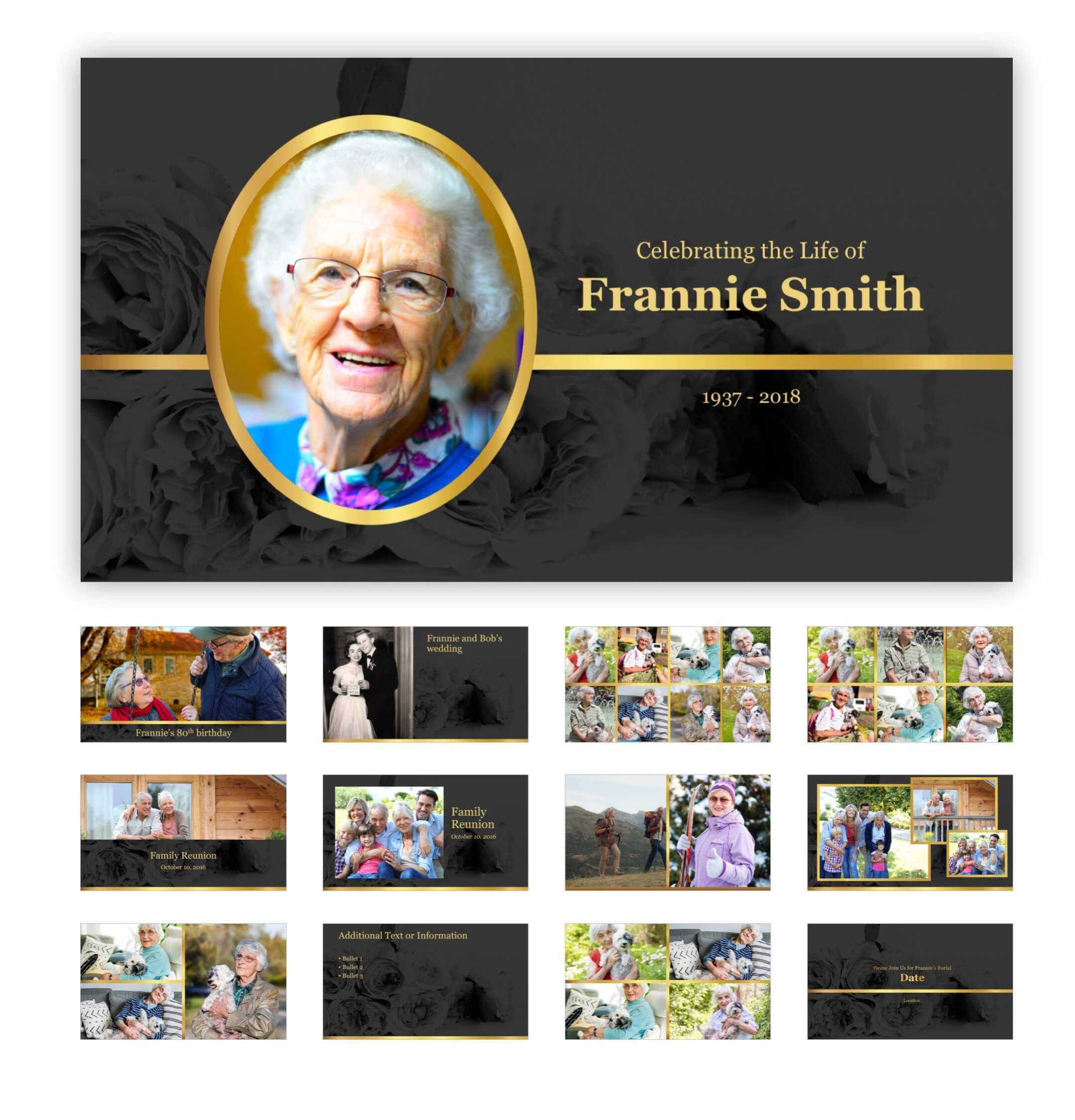 Best Funeral Powerpoint Templates Of 2019 | Adrienne Johnston Regarding Funeral Powerpoint Templates