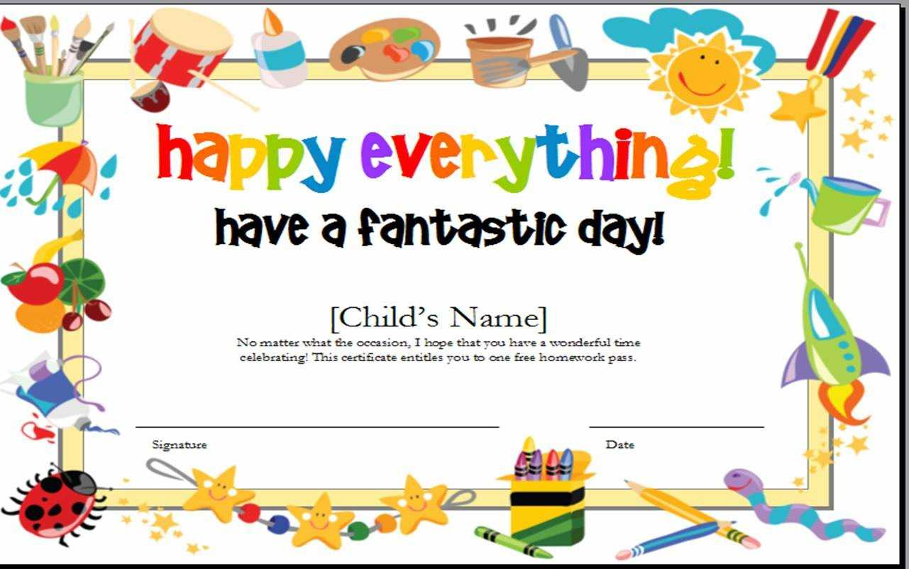 Best Ideas For Kids Gift Certificate Template On Summary In Kids Gift Certificate Template