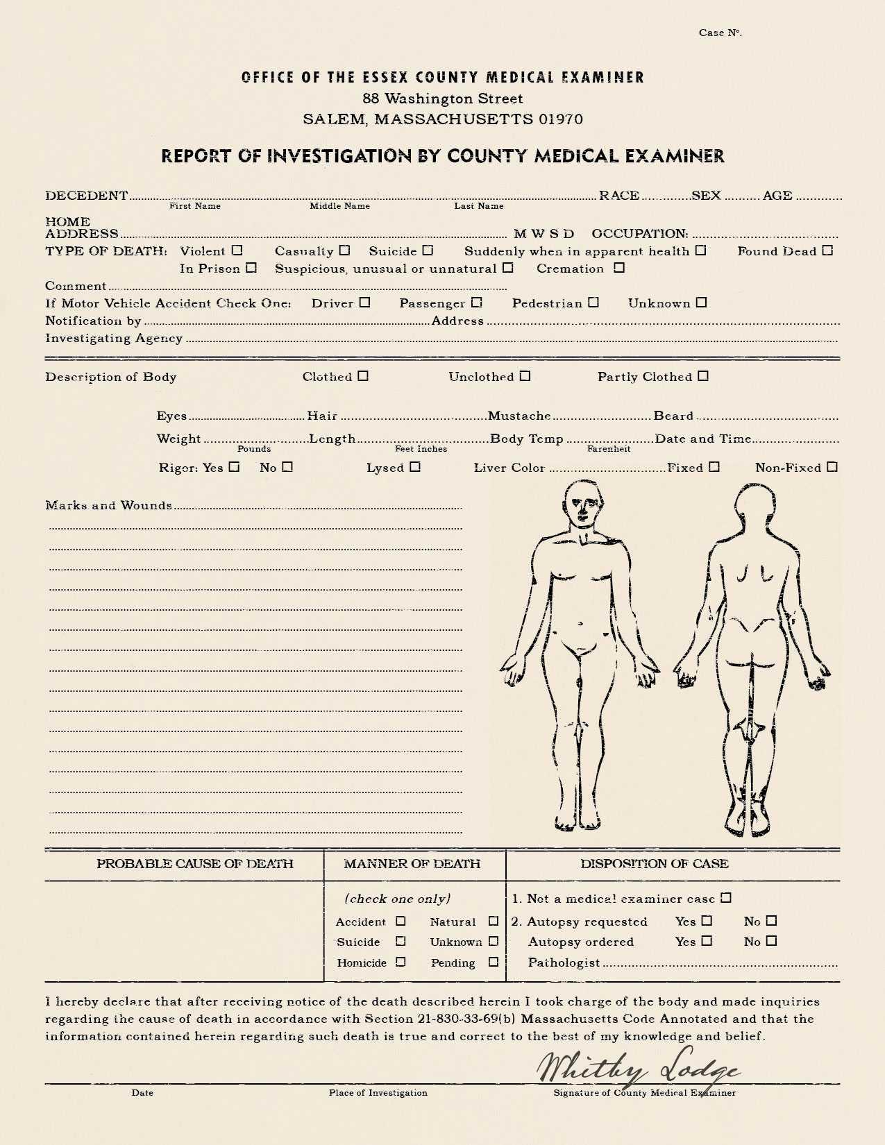 Best Photos Of Coroner's Report Template - Blank Autopsy Intended For Coroner's Report Template