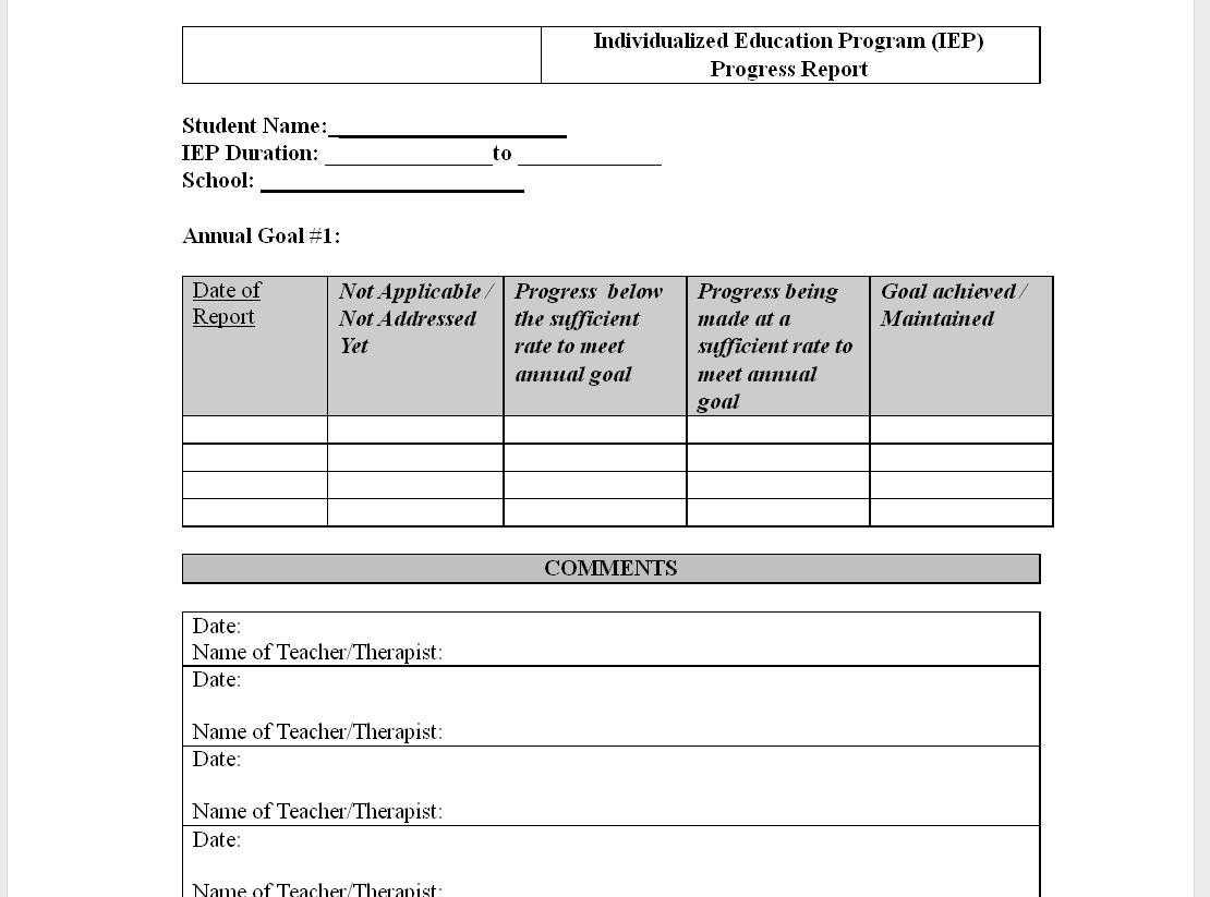 Best Photos Of Elementary Student Progress Report Template in Educational Progress Report Template