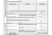 Best Photos Of Equipment Check Out Form Template – Equipment with regard to Check Out Report Template