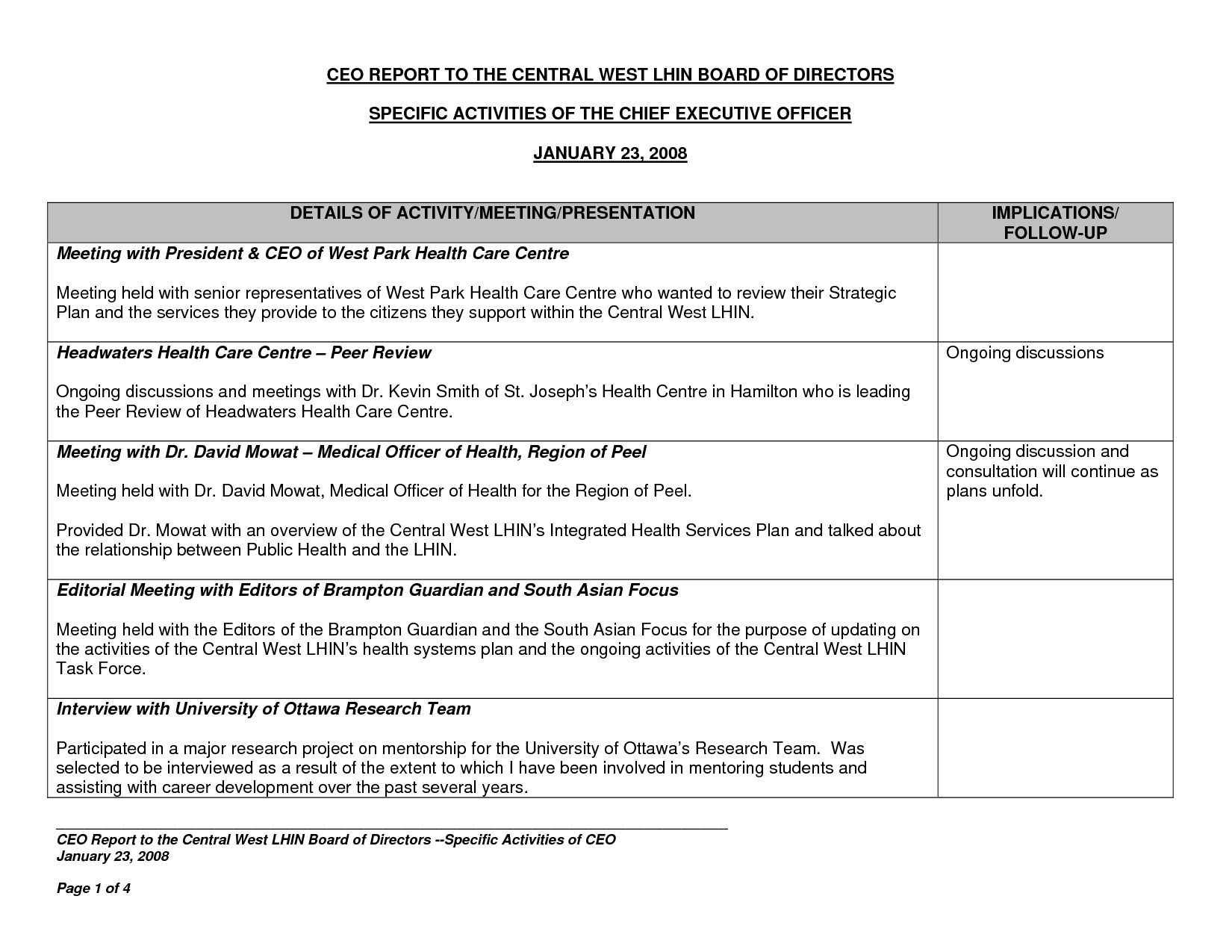 Best Photos Of Executive Directors Report Template Throughout Monthly Board Report Template