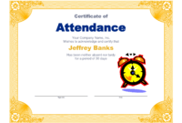 Best Photos Of Microsoft Certificate Of Attendance for Attendance Certificate Template Word