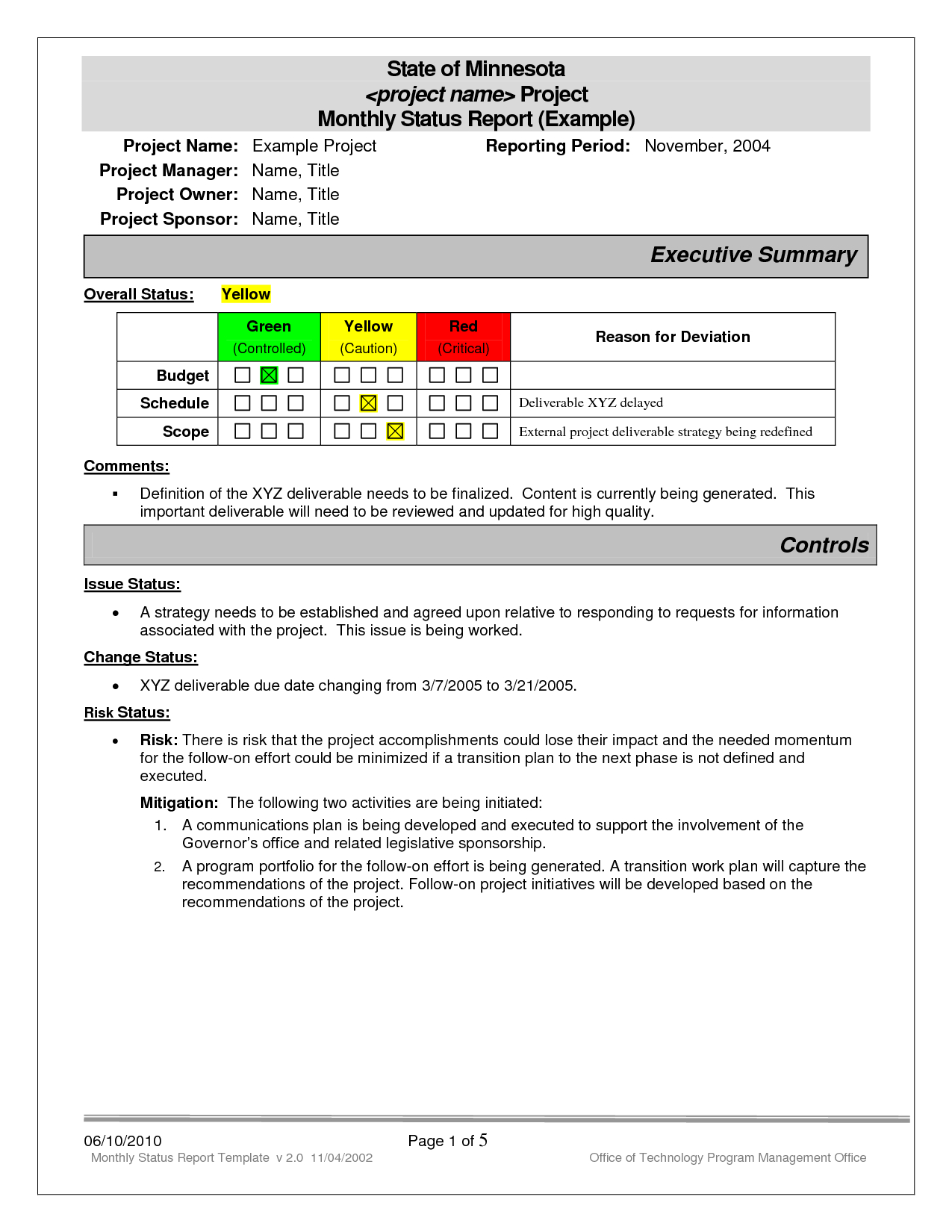 Best Photos Of Project Status Report Examples - Project With Project Status Report Template Word 2010