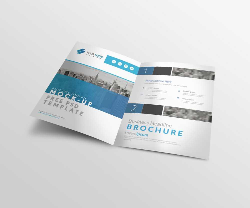 Bi Fold A4 Brochure Mock Up Psd Template | | Designertale inside Two Fold Brochure Template Psd
