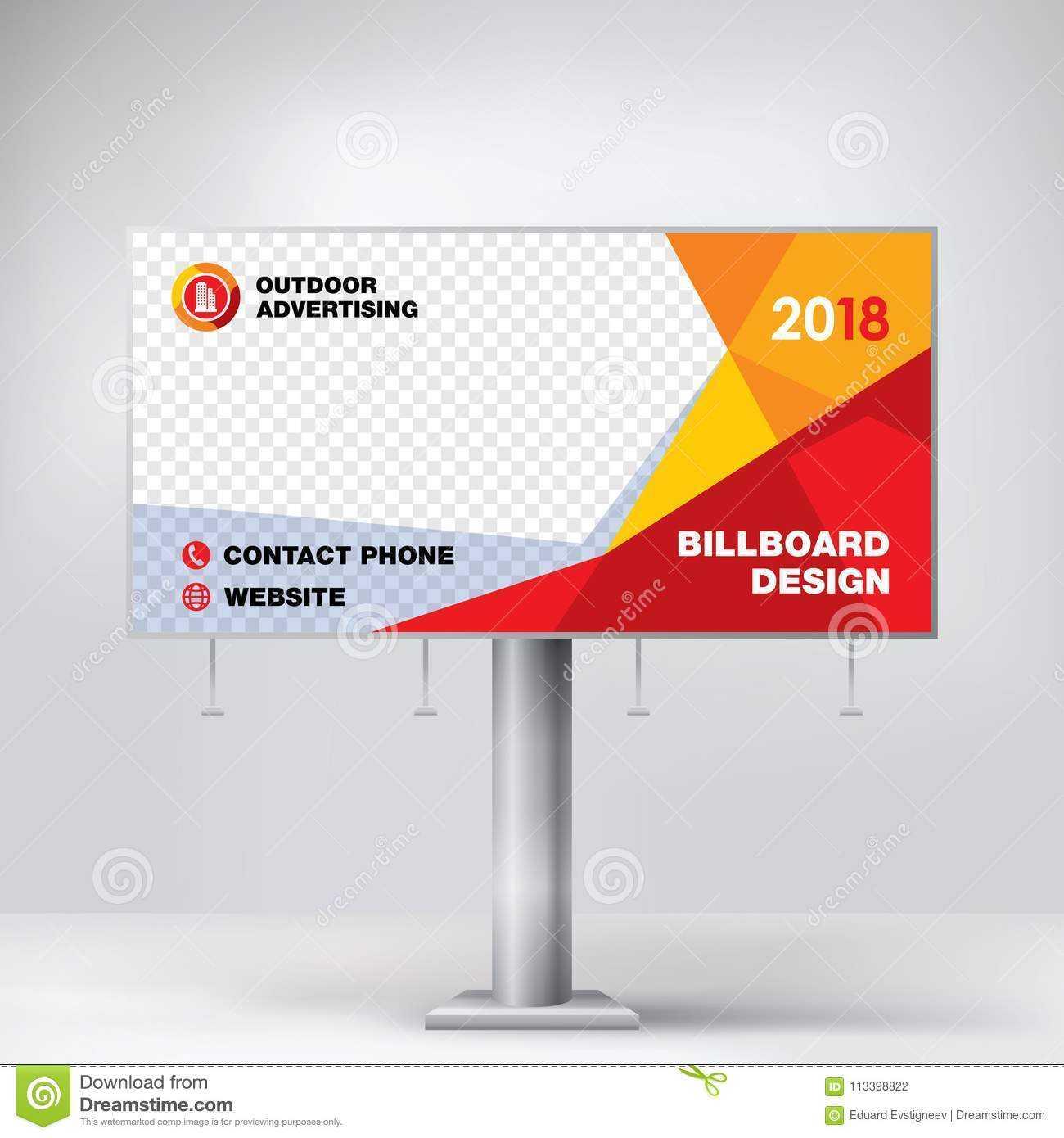 Billboard Design, Template For Outdoor Advertising, Modern Within Outdoor Banner Design Templates