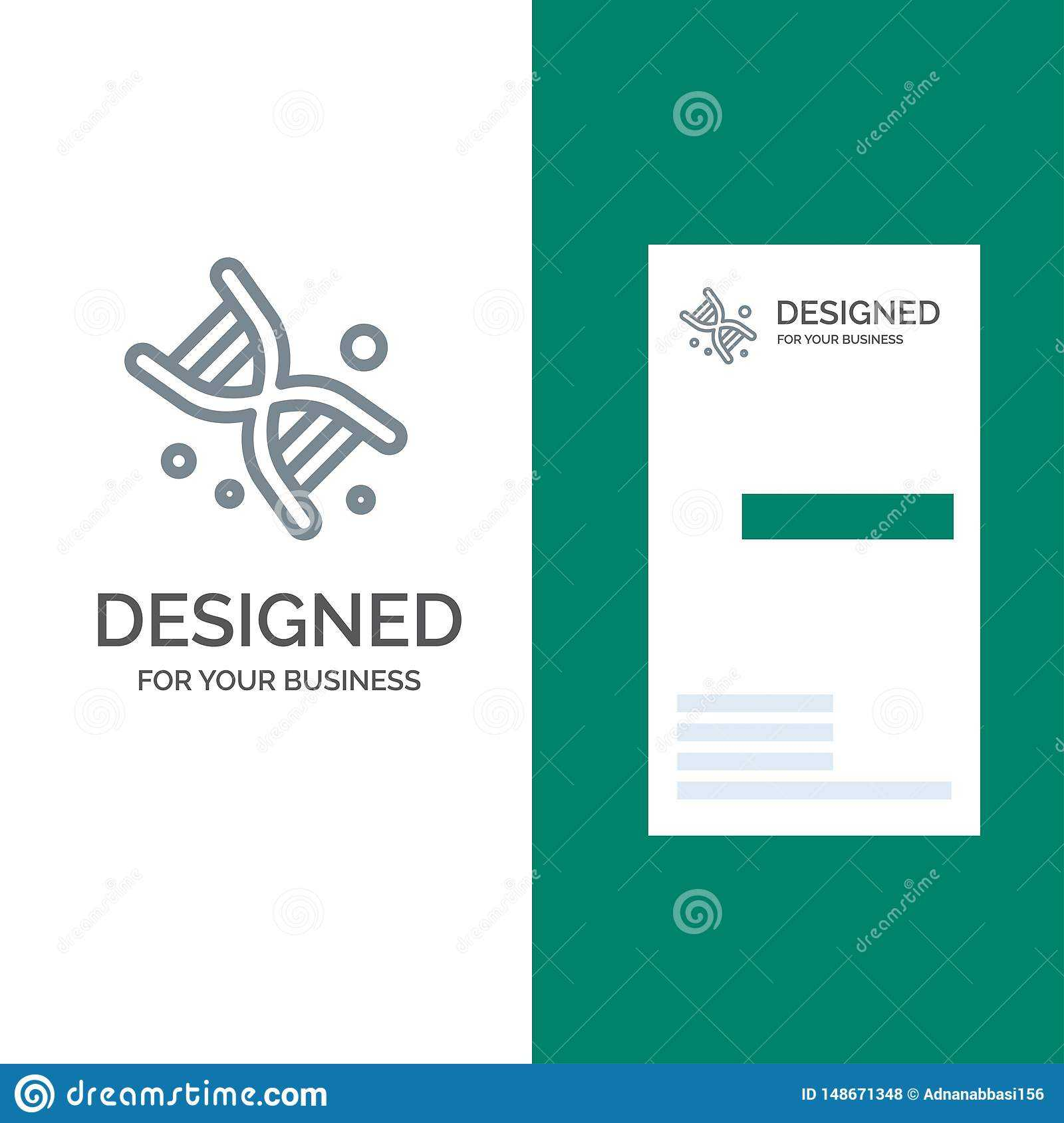 Bio, Dna, Genetics, Technology Grey Logo Design And Business pertaining to Bio Card Template
