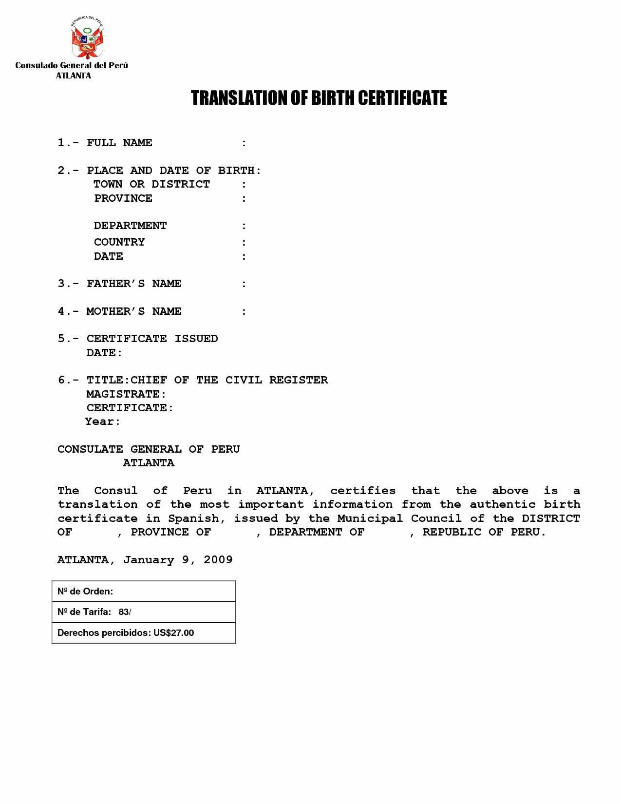 Birth Certificate Copy – Mallerstang within Birth Certificate Translation Template