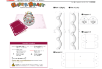 Birthday Cake Pop-Up Card Template | Pop Up Card Templates inside Happy Birthday Pop Up Card Free Template