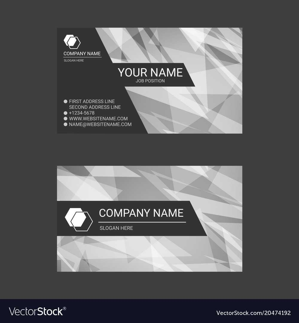 Black And White Abstract Business Card Templates With Black And White Business Cards Templates Free