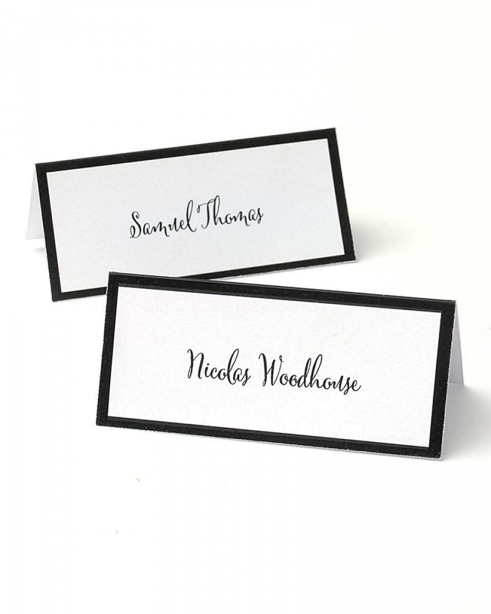 Black Border Printable Place Cards Inside Gartner Studios Place Cards Template