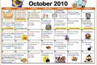 Blank Activity Calendar Template New Activity Calendar with Blank Activity Calendar Template