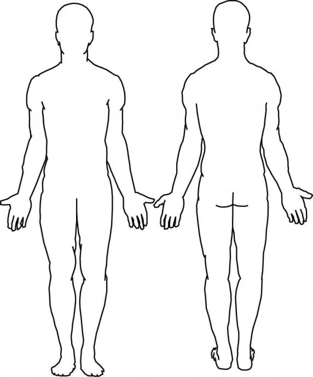 Blank Body | Body Template, Body Outline, Human Body Diagram Inside Blank Body Map Template